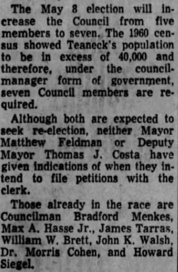 Bergen Record Feb 6, 1962