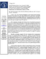 Township Clerk Response Letter to 2021 Election Petition – Amendment